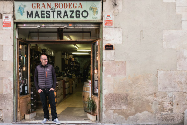 The beautiful Barcelona wine shop and wine specialist store is a full of incredible wines from all over the world! Jose is the proud owner!
