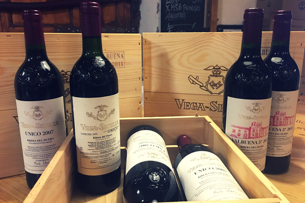 The beautiful Barcelona wine shop and wine specialist store is a full of incredible wines from all over the world! Vega Sicilia wine is one of our favorite Spanish Wines!